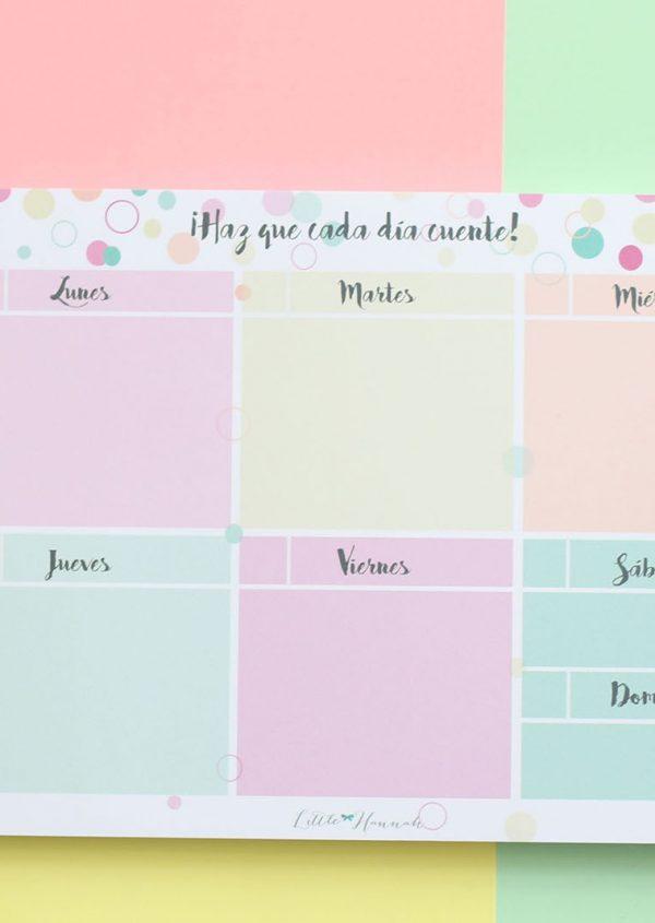 Planner semanal Little Hannah - Pompas