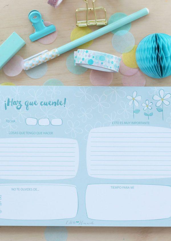 Planner diario Little Hannah - Margaritas