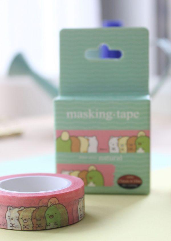 Washi tape - Sumikko Gurashi (Cajita verde)
