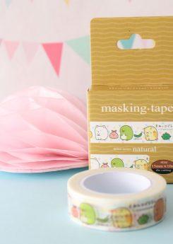 Washi tape Sumikko Gurashi (Cajita caqui)