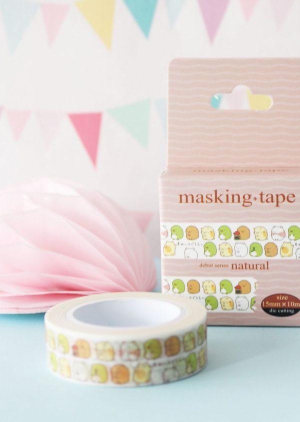 Washi tape Sumikko Gurashi (Cajita morada)
