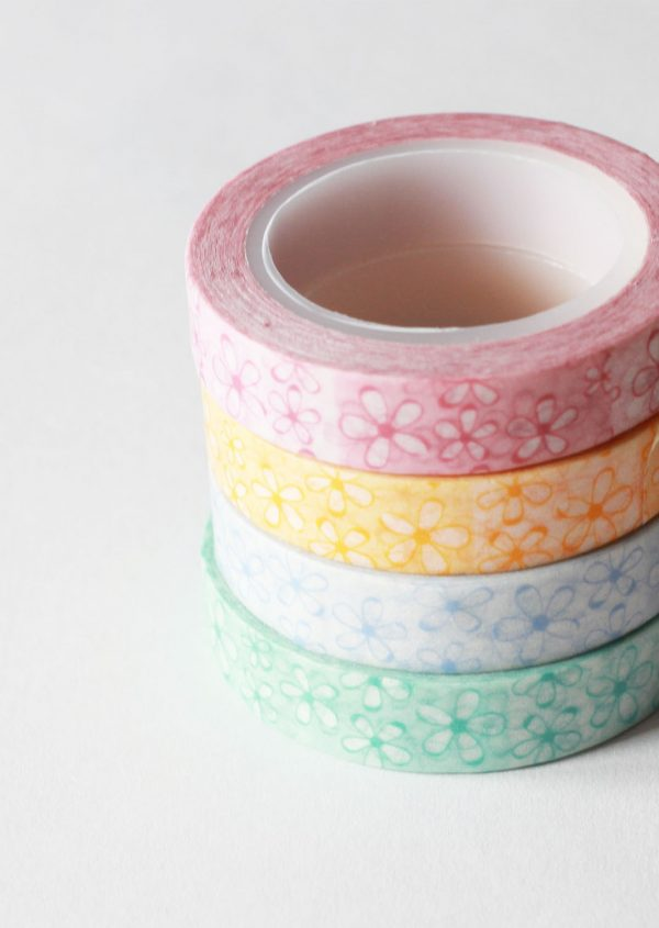 Combo cuatro washi tape Little Hannah - Margaritas