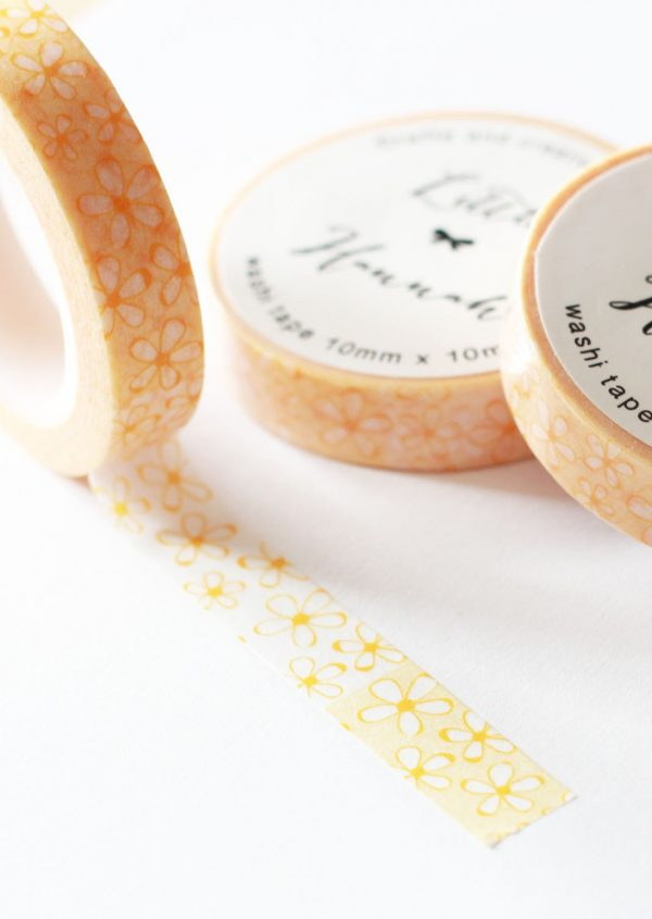Washi tape Little Hannah - Margaritas Naranjas