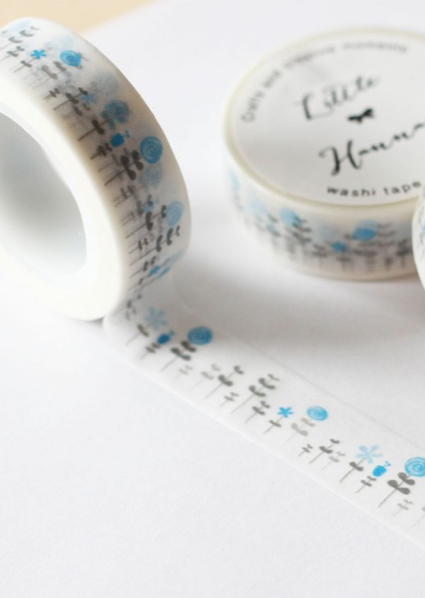 Washi tape Little Hannah -Bosque Hanah Azul