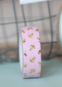 Washi tape Charuca - Anclas rosa
