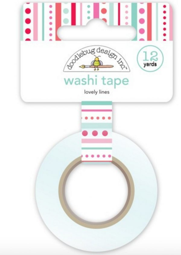 Washi tape Doodlebug - Lovely lines