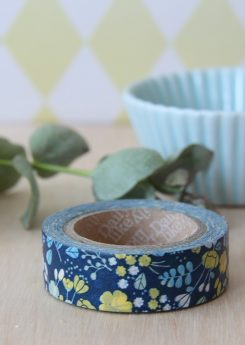 Washi tape Dailylike - Wedding bouquet navy
