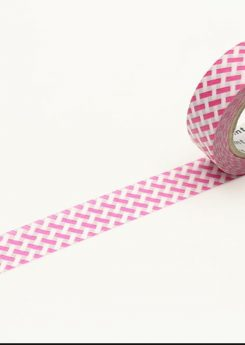 MT Masking tape - Net check - Pink