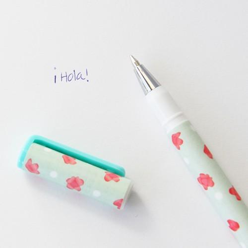 Bolígrafo Florecitas con tapa