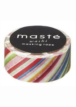 Washi tape Masté - Colorful stripes
