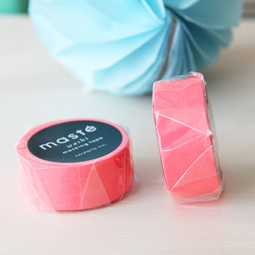 Washi tape Masté - Neon red