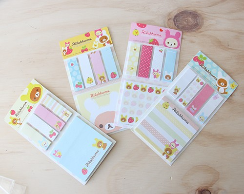 Post-it y memo pads de Rilakkuma