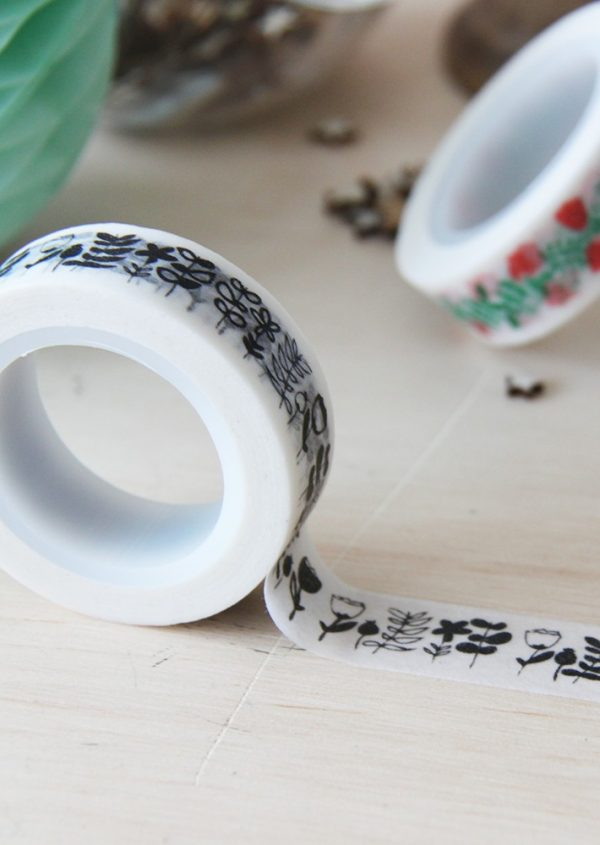 Washi tape Little Hannah - Flores de invierno