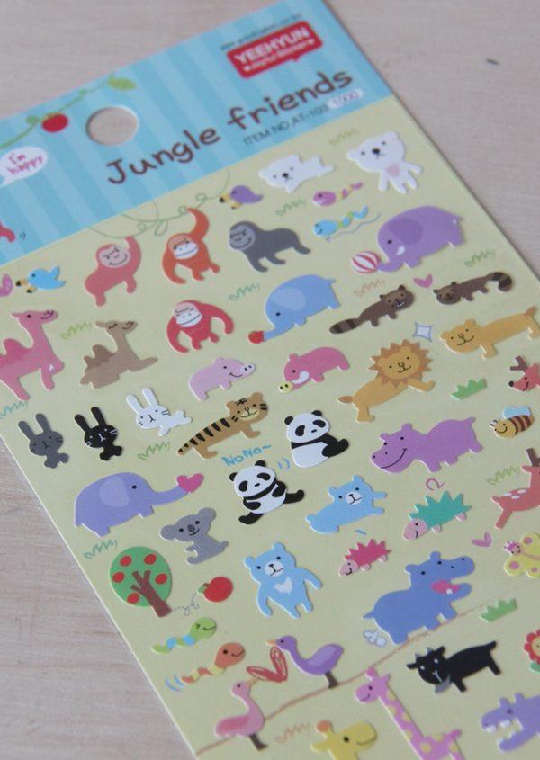 Pegatinas Jungle Friends