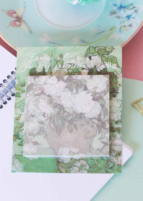 Post-it Flores blancas - littlehannah Shop