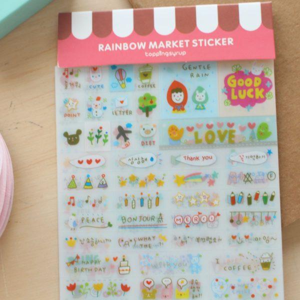 Pegatinas para tu agenda - Rainbow Marker