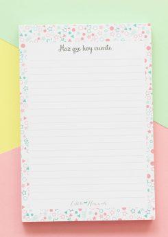 Bloc de notas Little Hannah - Confetti (pequeño)