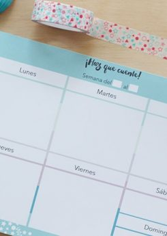 Planner semanal Little Hannah - Confetti Pastel