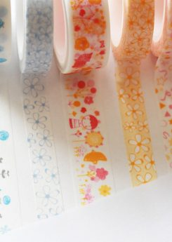 Combo cinco washi tapes Little Hannah - Colección Primavera