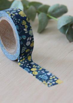 Washi tape Dailylike - Wedding bouquet navy