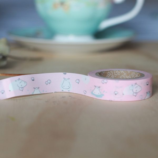 Washi tape Dailylike - Hippo